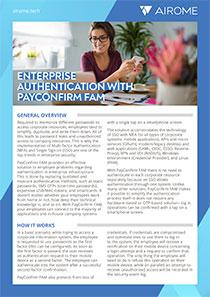 Enterprise Authentication with PayConfirm FAM